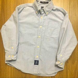 Gap Boys The Big Oxford Blue Collar shirt size S